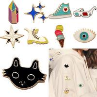 Cute Cartoon Brooch Enamel Shirt Label Pin Collar Pins Badge Jewelry Gift New GT