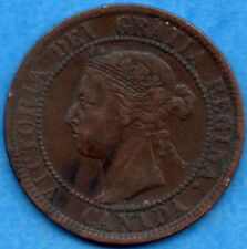 Canada 1893 1 Cent One Large Cent Coin - Very Fine