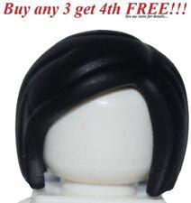 ☀️NEW Lego Minifig Hair Female Girl Black Short Bob Cut Agents Police Cop #2