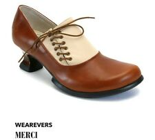 JOHN FLUEVOG WEAREVERS: MERCI 10 BROWN LEATHER PUMPS SHOES HEELS