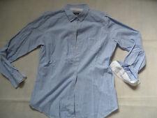 MARC O POLO schöne weiß blau gestreifte taillierte Bluse Gr. 44 TOP 618
