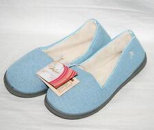 Wishcotton Memory Foam Slippers Women Size 11 House Shoes Blue Non Slip Sole