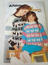 Patons Knitting Pattern Book 499 Menagerie Kids Animals dragon cats vol 11