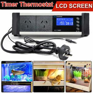 LCD Reptile Snake Aquarium Digital Day/Night Timer Thermostat Temp Controller AU