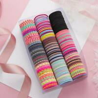 50Pcs Colorful Nylon Elastic Rope Band Round Rubber Sewing Hair Accessories