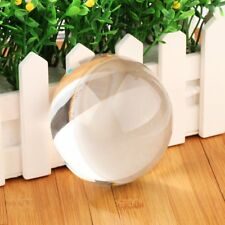 90mm Clear Half Sphere K9 Crystal Ball Paperweight Magnifying Glass Decoration