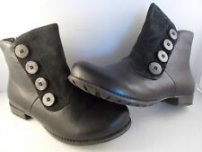 Think! Denk! Sz/Kombi Black Leather/Suede Ankle Boots Women's Sz 6 US New In Box