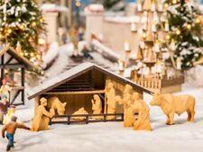 NOCH 14394 Weihnachtsmarkt-Krippe mit Figuren in Holzoptik ++ NEU in OVP