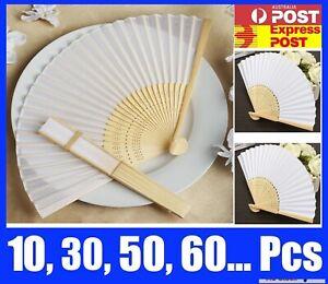 Bulk Chinese Hand Folding Bamboo Wooden Paper Fan White Red Black