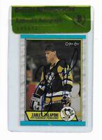 ZARLEY ZALAPSKI signed autographed 1989-90 OPC ROOKIE CARD RC BECKETT (BAS)