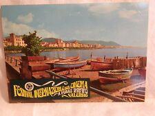 Vecchia cartolina foto d epoca FESTIVAL INTERNAZIONALE DEL CINEMA DI SALERNO da