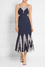 NWT JONATHAN SIMKHAI Embroidered cotton-poplin dress Size 4 $ 795