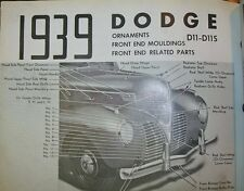 1939 Dodge D11 NOS MoPar Grille BARS Moulding 26 Pieces Chryco