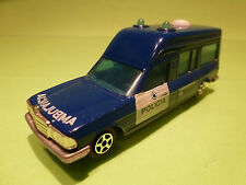 NOREV 1:43 MERCEDES - AMBULANCE POLICIA - BLUE - RARE SELTEN - GOOD CONDITION