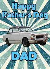 Fiat Abarth 500 Happy Father's Day A5 Personalised Greeting Card PID134 CAR