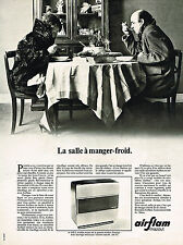 PUBLICITE ADVERTISING 045  1969  AIRFLAM   chauffage d'appoint à mazout