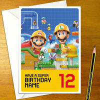 Super Mario A6 À faire soi-même anniversaire Invitations-invite Parti Gamer LUIGI BOWSER PEACH