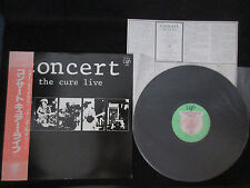 Cure Concert The Cure Live Japan Vinyl LP with OBI in 1984 Robert Smith Goth