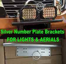 Nissan XTrail / Qashqai Dualis SILVER Number Plate License Light Aerial Brackets