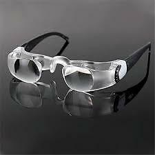New Max TV Television Magnifying Glasses 2.1X 0 to -300 Degree Goggles Magnifier