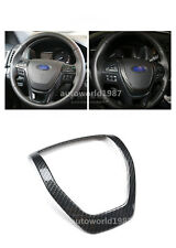 For Ford explorer 2013-2016 ABS Carbon Fiber Style Steering Wheel Cover Trim