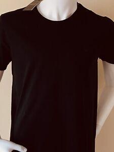 ARMANI 'SMALL EAGLE' LOGO T-SHIRT -  NEW FOR 21' - BLACK - SMALL (38') -  £££%%