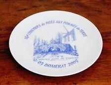 Domérat, assiette concours de patés 2005, l'ancien pont de Vignoux