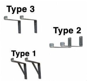 Scaffold Board Shelf Brackets Heavy Duty Handmade Industrial Steel Metal RUSTIC