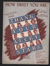 How Sweet You Are 1943 Bette Davis Thank Your Lucky Stars Sheet Music