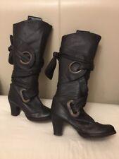 Abel Spanish Boots Dark Brown Sz 6 (39)
