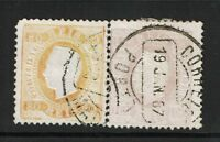 Portugal SC# 44e? and 45, Used, Hinge Remnant - S4715