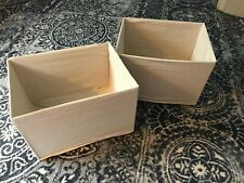 Lot Of 6 Natural Linen/Cotton Foldable Storage Box Holder Organizers