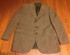 DAKS Simpson London Tailored Wool Tweed Blazer/Jacket 38 R Leather Elbow Patches