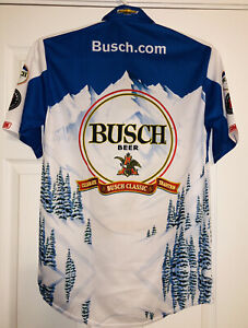 Kevin Harvick Busch Beer Nascar Pit Crew Shirt Stewart Haas Mountains Classic