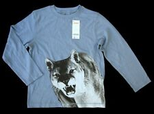 NWT GYMBOREE Blue Mointain Lion Cougar Long Sleeve T Shirt 6 Year Boy NEW