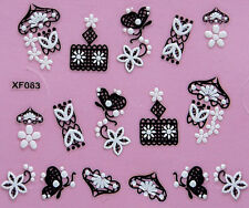 5 Pieces New Styles Professional Art 3D Design Nail Sticker Decal Cute Gift
