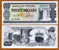 Guyana, 20 dollars, ND (1989), P-24d, UNC