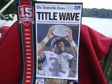 PRINT - POSTER - THE HUNTSVILL TIMES - TITLE WAVE - TUESDAY, JAN. 8 2013