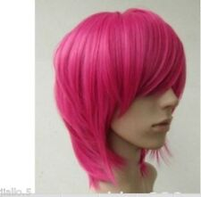 New Short Hot Pink straight base cosplay wig Z0055