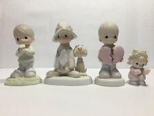 Enesco Precious Moments Lot (4) Figurines Collectible Different.