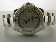 "Rolex Yachtmaster 168622 S/S & Platinum 35MM Unisex Watch ""P"" Series. MINT!!!"