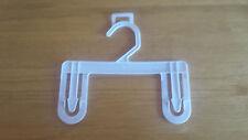 "8"" Bottom Plastic Hanger with hanging loop, Lot of 25"