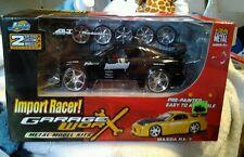 Jada Toys RARE Black Mazda RX7  black Import Racer scale 1/24 Kit