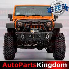 07-17 Jeep Wrangler JK HD Rock Crawler Front Bumper+Side Fin+OE Fog Light Hole