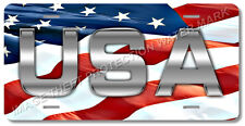 """Usa American Flag Patriotic Novelty License Plate Tag 6""""x12"""" New Auto Truck Car"""