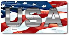USA American Flag Patriotic Novelty License Plate Tag Pickup Truck Car Gift Dad