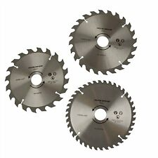 3PC 184mm 185mm TCT CIRCULAR SAW BLADES 30mm BORE 20 24 & 40 Teeth & 3 Reducers