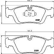 Pagid T1177 Brake Pad Set FRONT for BMW 3 E36 E46 Z3 Z4 34119070047 34112157616