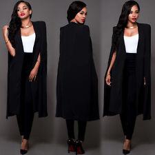 Women's Laides Slim Long Coat Jacket Trench Windbreaker Parka Outwear Cardigans