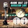 Adjustable Marine Boat Yacht 4500K LED Navigation Light Stern Anchor Pole Lamp